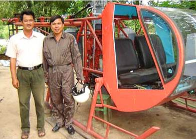 vietnam homemade helicopter